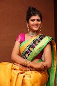 Sangeetha Kamath dazzling saree photos-thumbnail-5