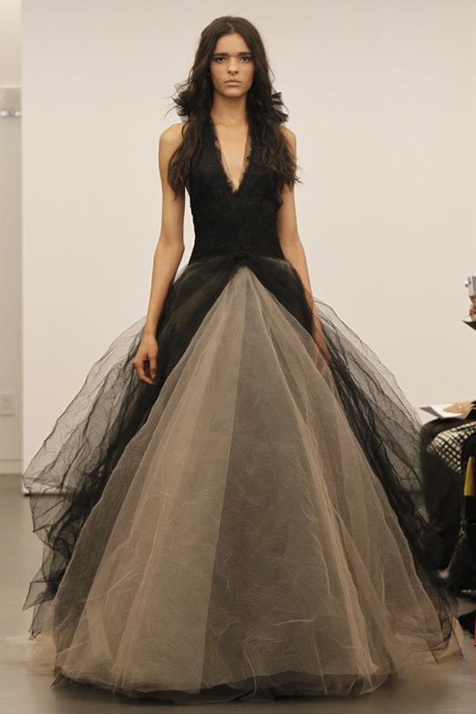 vera wang non traditional black wedding dresses