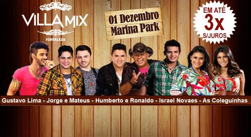 Agenda Br Sertanejo Villa Mix Fortaleza No Marina Park Em Dezembro
