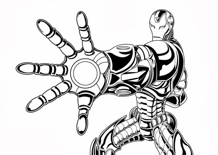 iron man coloring sheet - Iron Man Coloring Book