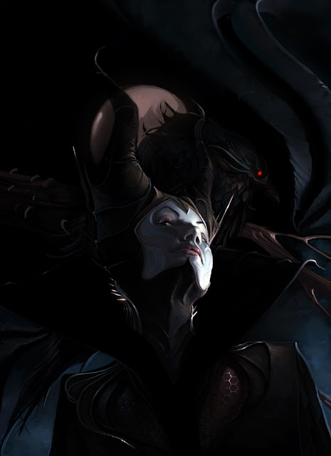 Maleficent,Kelley Harris,digital art