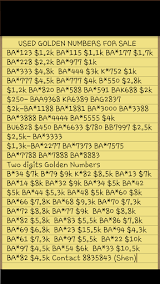 Used Golden Numbers for sale
