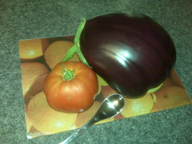 Teaspoon in photo so give you scale. That purple beauty is HUGE!