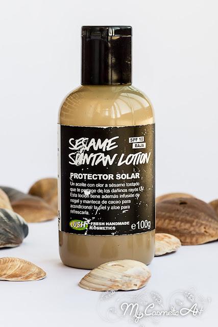 Sesame Suntan Lotion, protector solar de Lush