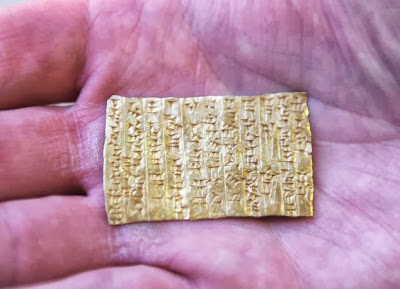 Berlin museum seeks return of ancient gold tablet