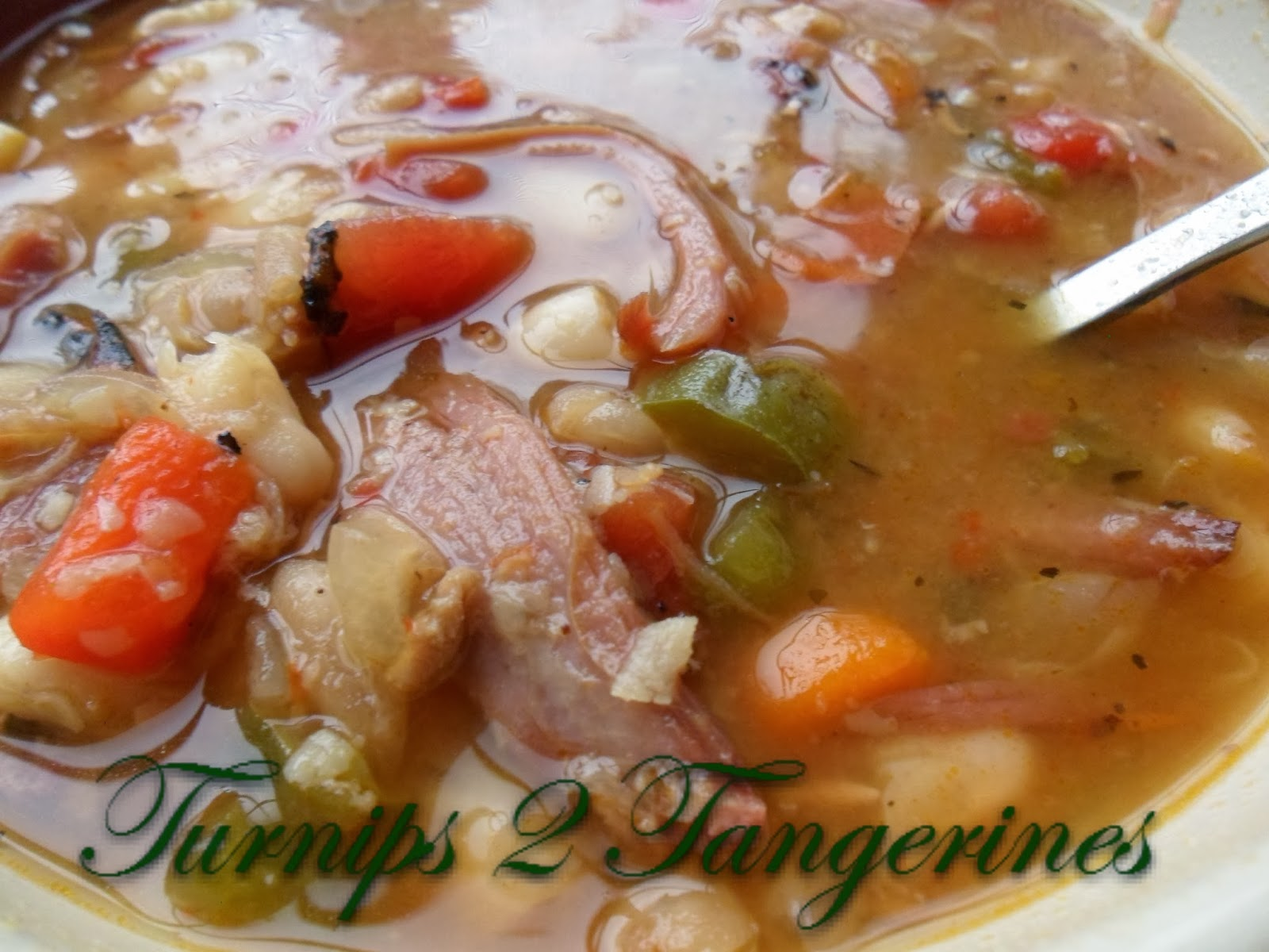 Turnips 2 Tangerines: White Bean and Ham Soup