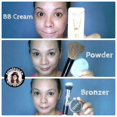 BB cream and bronzer