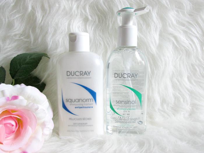 DUCRAY Squanorm Schuppen Shampoo & Sensinol Shampoo für juckende irritierte Kopfhaut