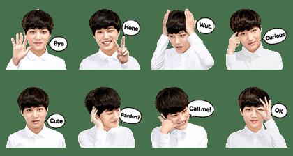 exo kai free line sticker