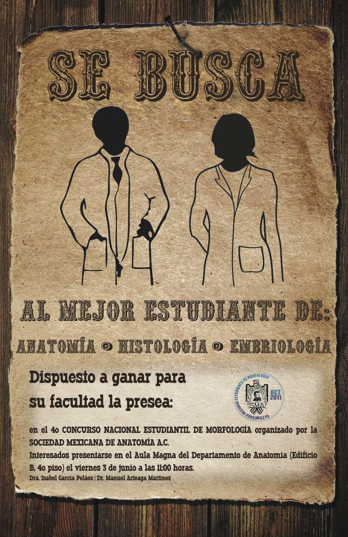 Anatomía UNAM: 4° CONCURSO NACIONAL ESTUDIANTIL DE MORFOLOGIA