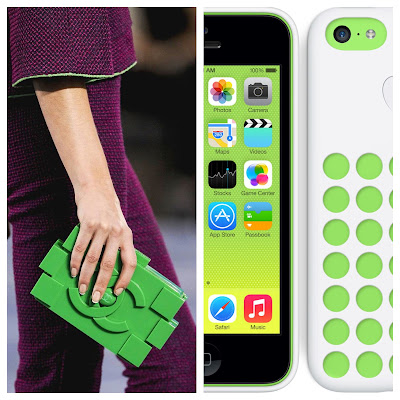 Apple iPhone 5C and Chanel Plastic Lego Clutch Bag
