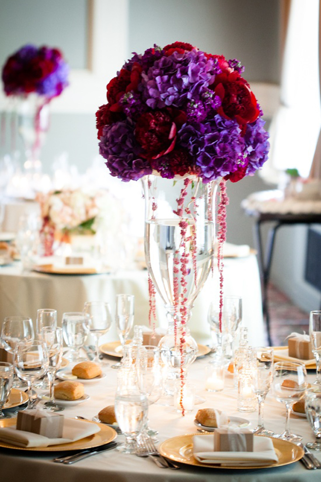 Purple And Red Centerpiece Ideas : Wedding centrepieces romantic decoration