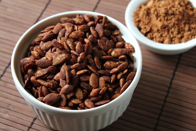 cocoa roasted pepitas or pumpkin seeds