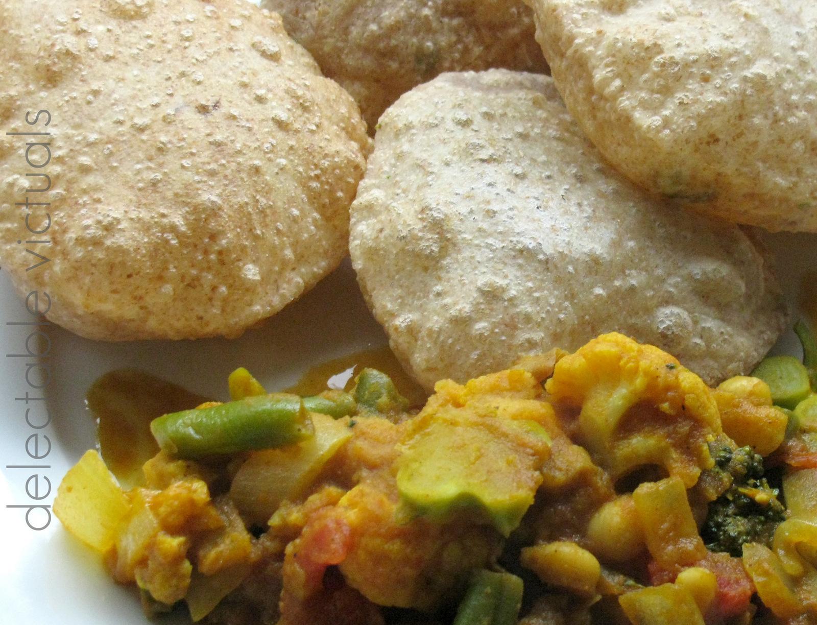 Poori Deep Fried Puffed Bread Recipe — Dishmaps