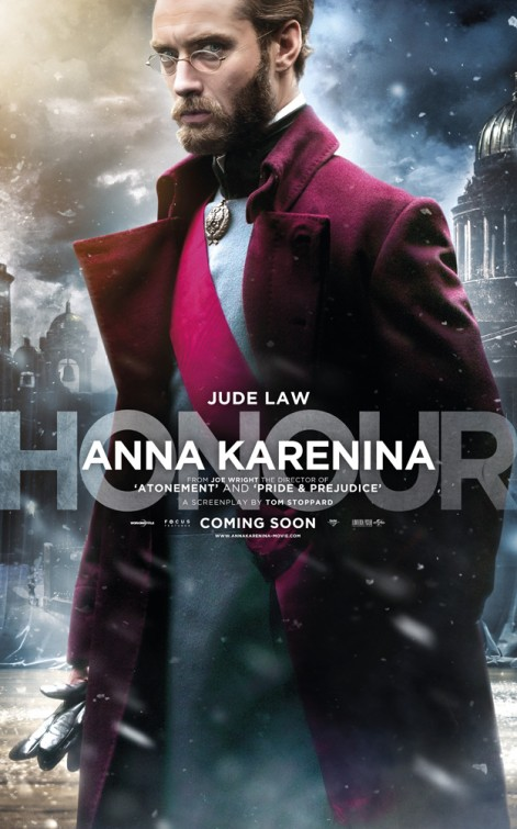Jude Law Anna Karenina movie poster