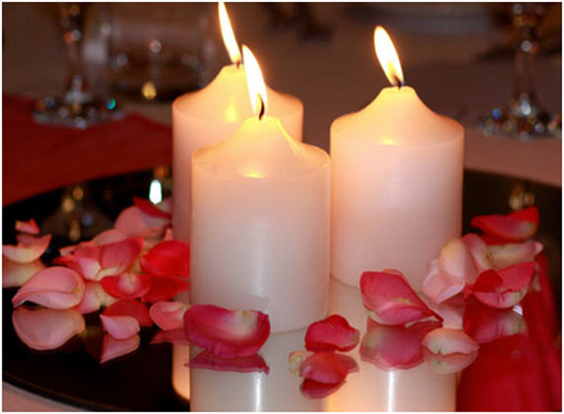 Wedding collections table wedding decoration - Candle and mirror centerpieces ...