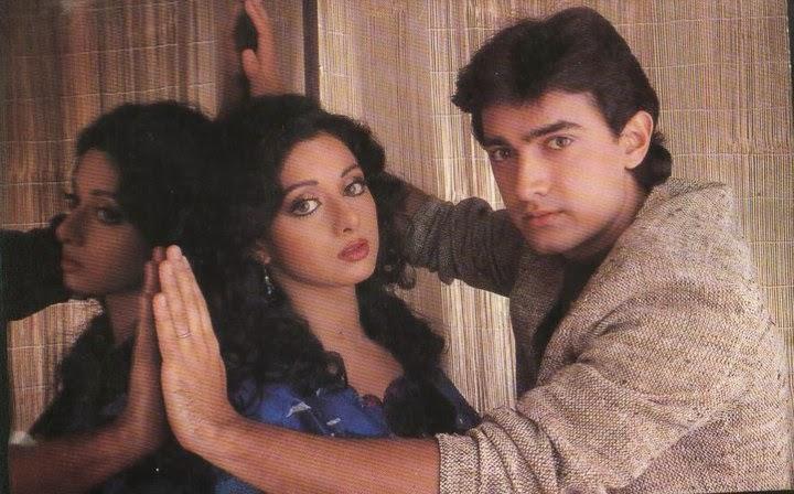 Image result for sridevi-aamir khan film seen