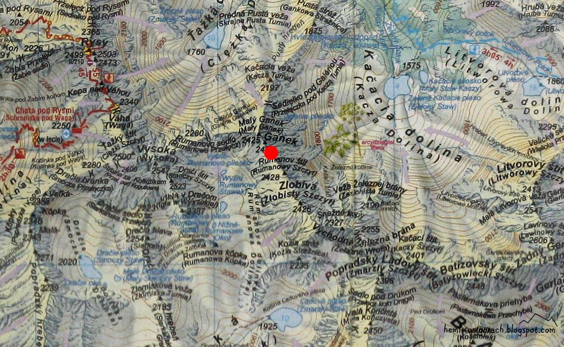 Gankowa Przełęcz na mapie