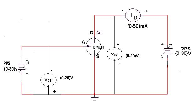Electronic devices and circuits lab manual fet characteristics circuit diagram ccuart Choice Image