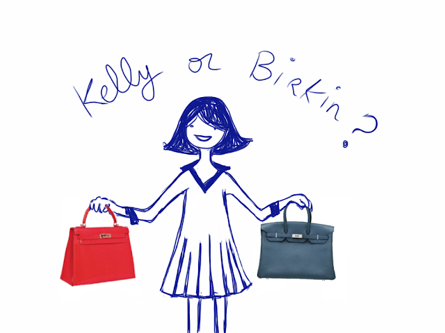 kelly or birking bags drawing