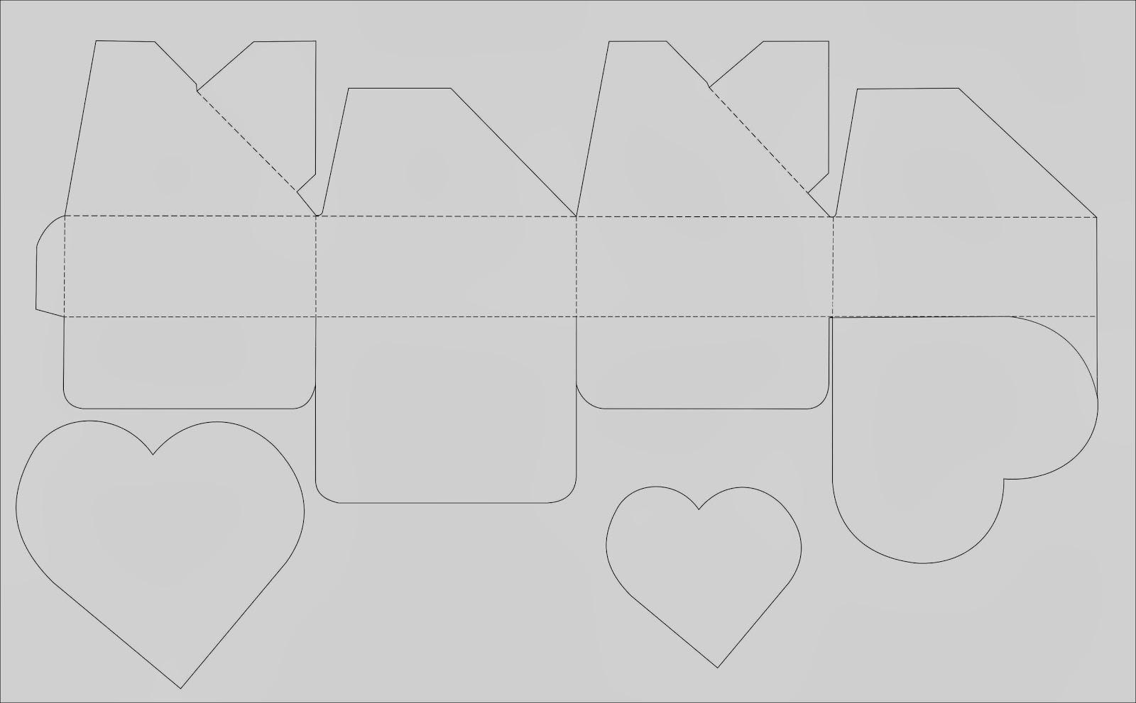 Imprime los patrones de la Caja de Regalo Corazon