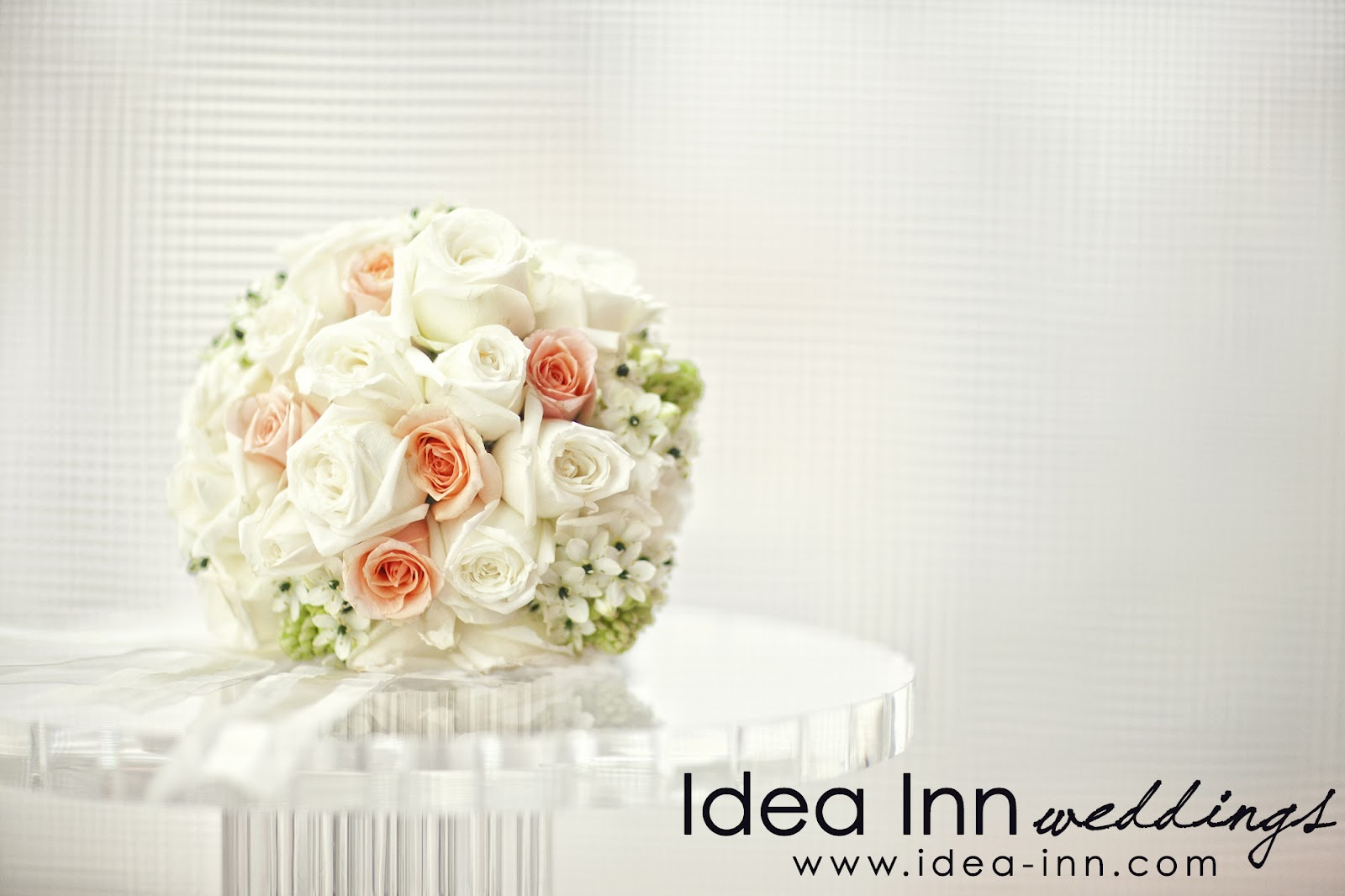 wedding hand bouquet white roses