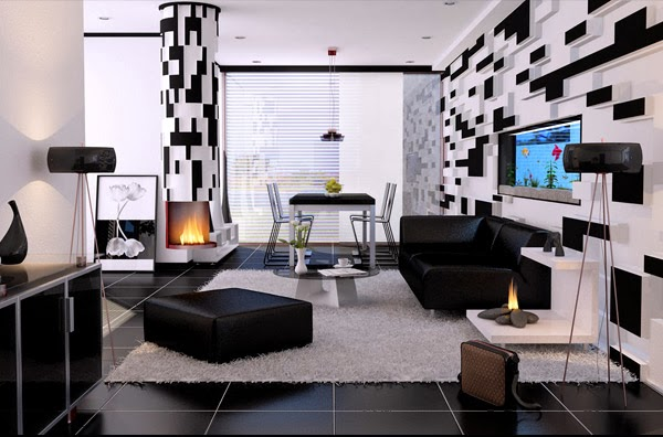 Best Salon Noir Et Blanc Deco Pictures - Amazing House Design