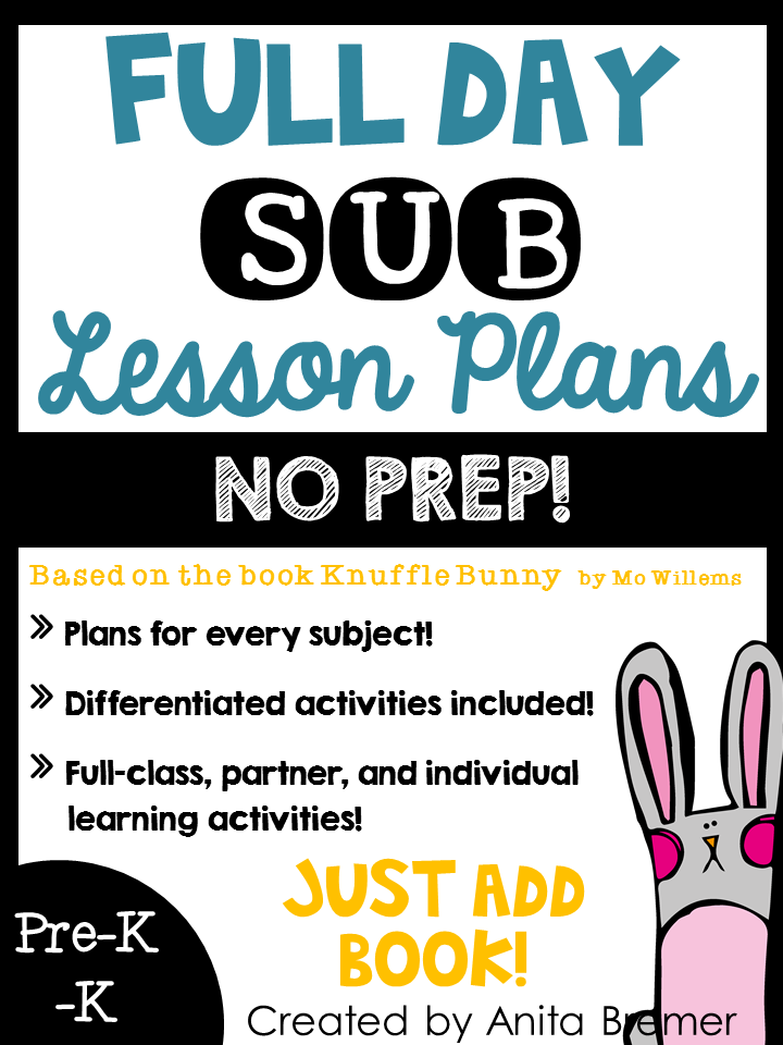 SUB PLANS-JUST ADD BOOK