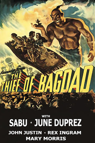 Poster Of The Thief of Bagdad Movie Download in Hindi HD Dual Audio 480P BRRip 300MB