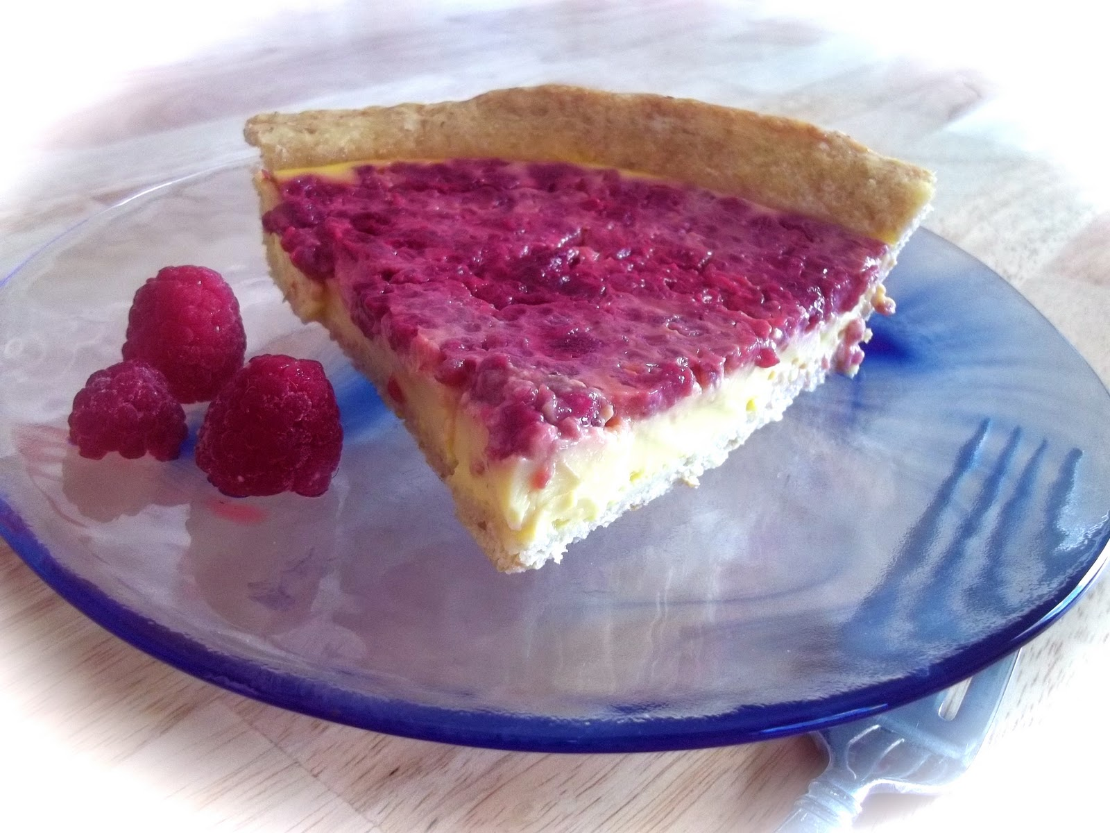 Raspberry Custard Pie with Omega Crust