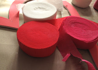 crepe paper streamers - great for crafting paper flowers!
