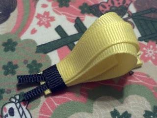 Handmade snail baby ribbon clip barrette
