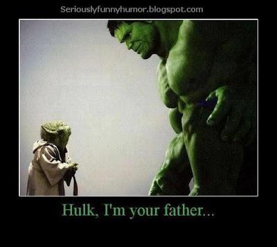 Yoda tells Hulk he's his daddy