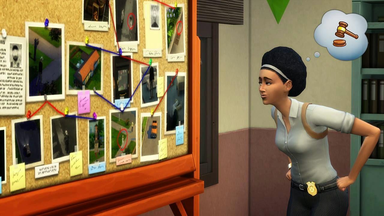 Imagen de la profesión detective del juego Los Sims 4 ¡A trabajar!