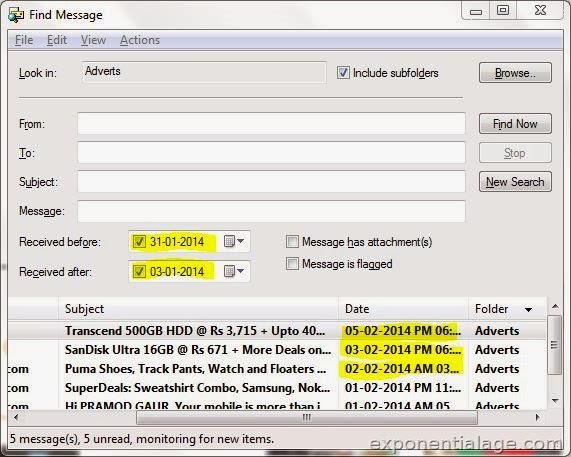 Windows Live Mail Bug