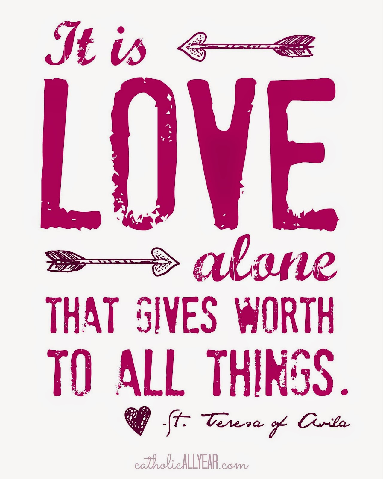 Seven Free Printable Catholic Valentines | Catholic All Year ...