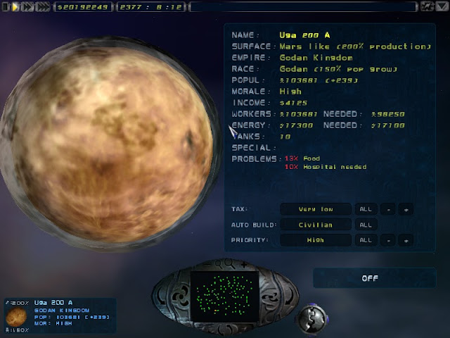 Imperium Galactica 2 - Planet Screen Screenshot