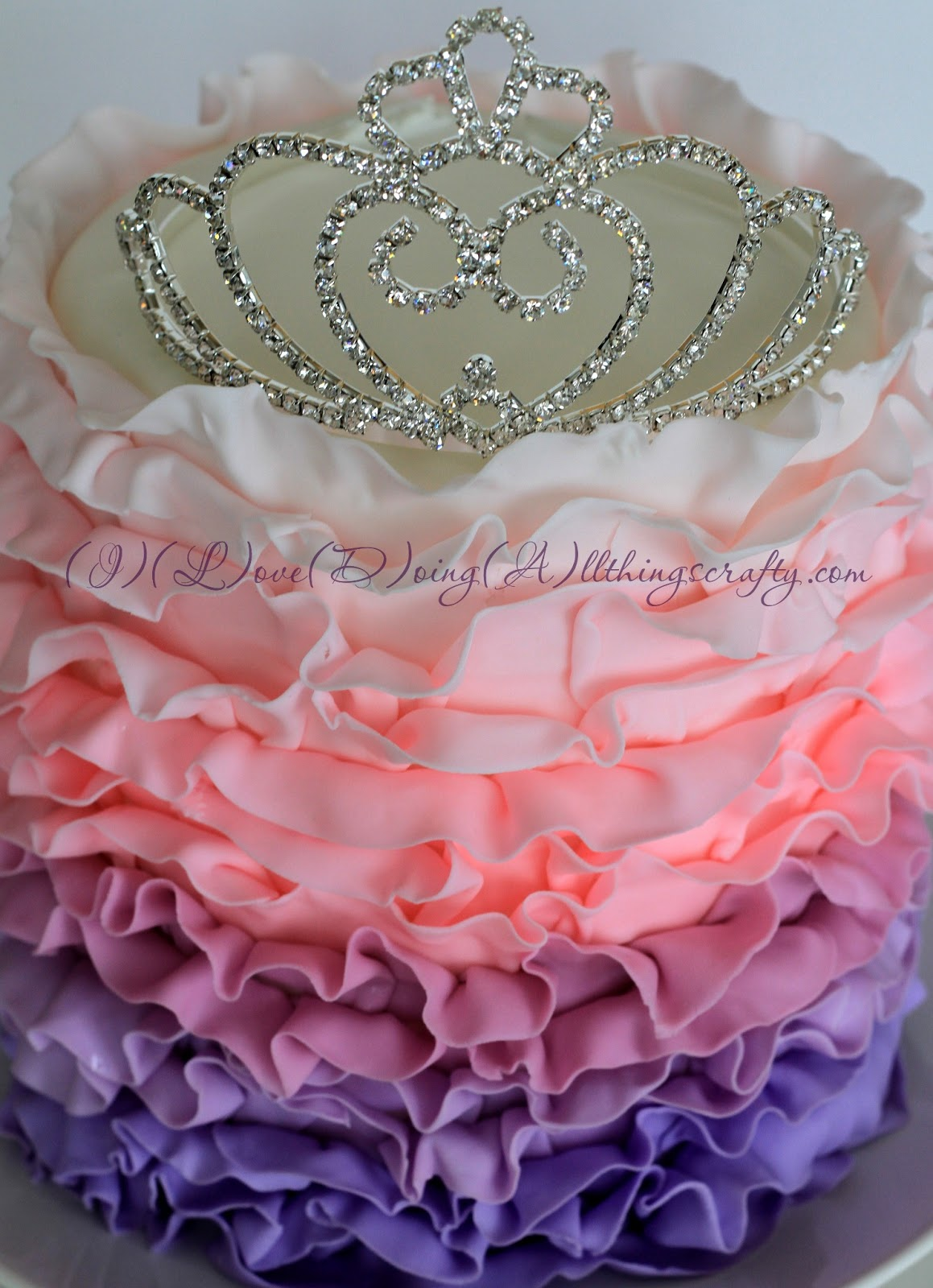 I Love Doing All Things Crafty Ombr Princess Cake