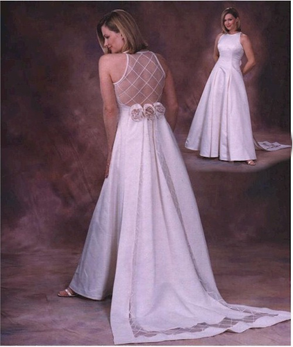 Fashion room detachable train for Detachable train wedding dress