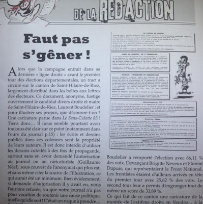 Vol dessin de presse, article Sans-Culotte - Guillaume Néel ©