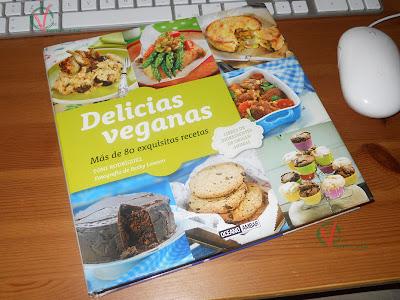 Portada del libro Delicias Veganas.