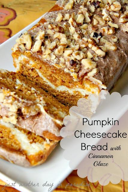 Larissa Another Day: Pumpkin Cheesecake Bread with Cinnamon Glaze