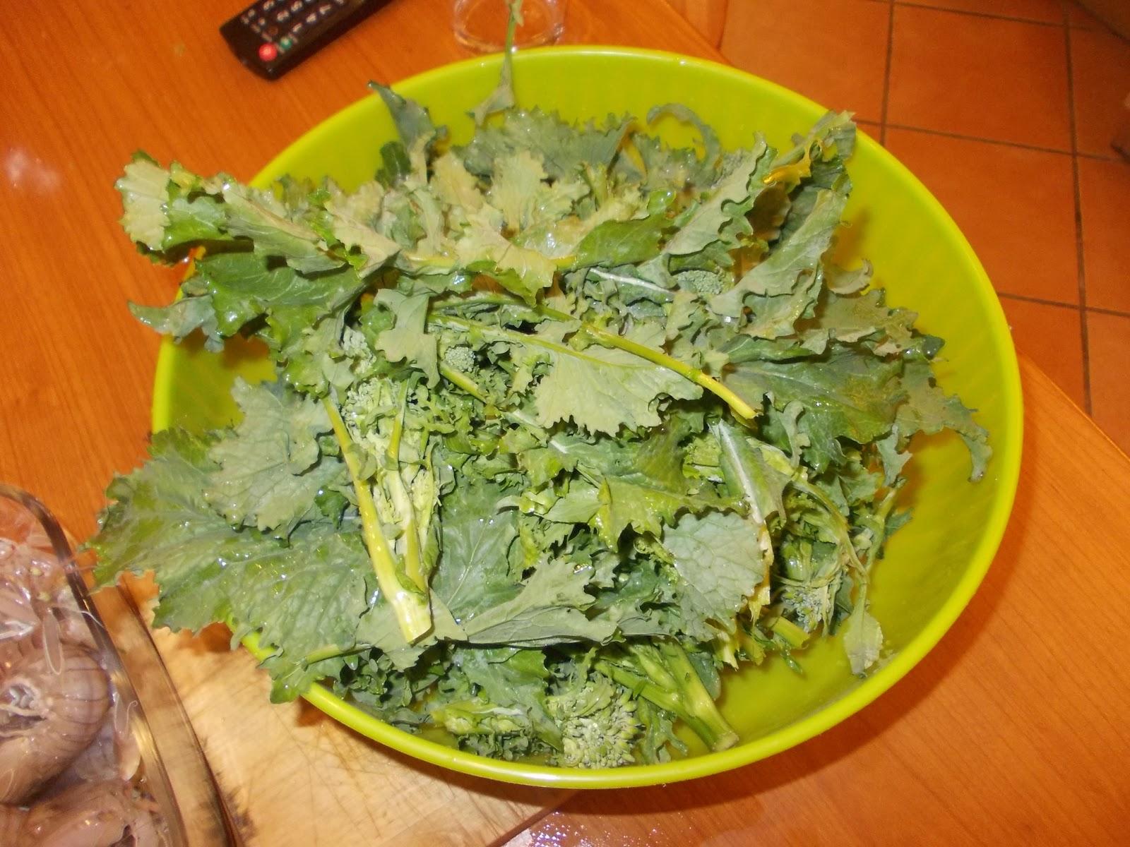 la cucina di mrg.: cime di rapa e canocchie (broccoli di rapa e ... - Cucinare Le Canocchie