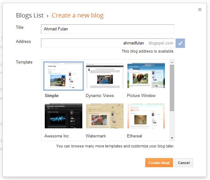 Cara Membuat & Setting Blog yang Baik