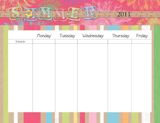 Monday Through Friday Printable Calendars Calendar