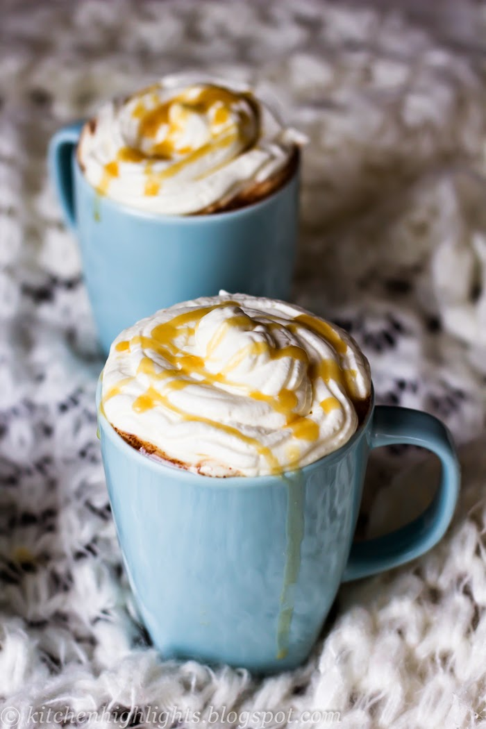 Simple ingredients like chocolate, milk and homemade caramel sauce are combined in a delicious comforting drink