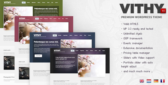 Vithy - Portfolio WordPress Theme Free Download by ThemeForest.