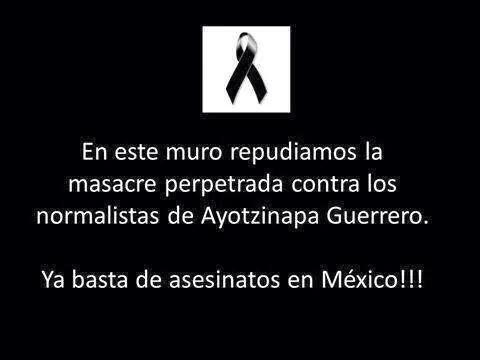 Solidaridad con normalistas de México
