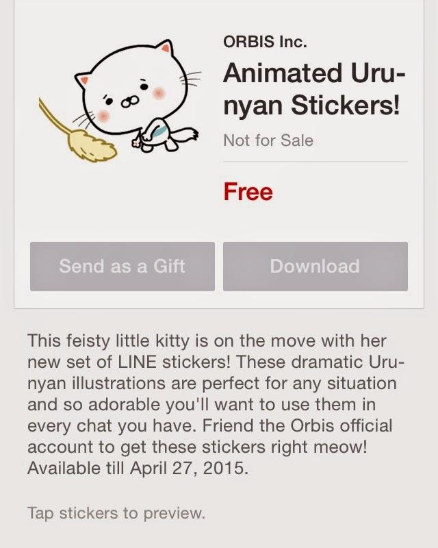 Animated Uru-nyan Stickers!