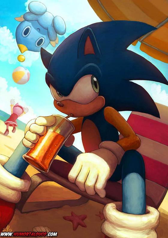 18 animações do mundo dos vídeos games e desenhos - Sonic
